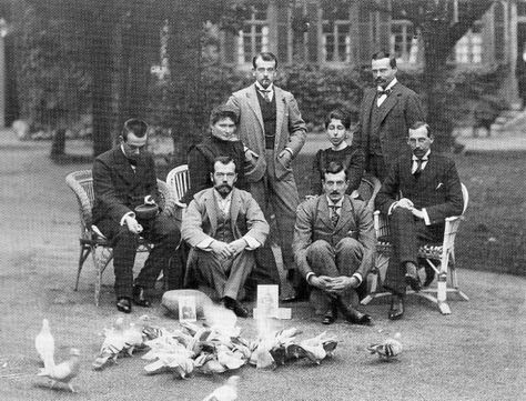 Tsar Nicholas II (seated on the ground  left in front of his wife) Empress Alexandra.  Grand Duke Ernst (Alexandra's brother) standing on the far right-his wife Princess Victoria Melita is seated by him. Grand Duke Kyrill (who later married Princess Victoria-stealing her away from Ernst-who was gay) is seated on the ground next to the Tsar.