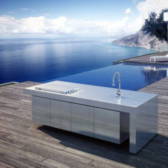 Weatherstrong Outdoor Cabinetry Miami Rustic Grey Pool Cabana Cabinets Outdoor Kitchen Cabinets Outdoor Kitchen Outdoor Kitchen Design