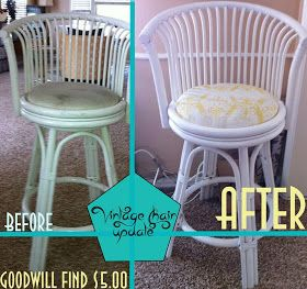 Diy Home decor ideas on a budget. : Vintage Chair Re-Upholster and Update