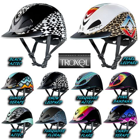 TROXEL RIDING HELMET TURQUOISE RACER FALLON TAYLOR SAFETY LOW PROFILE HORSE