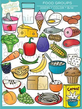 The Food Groups Clip Art Contains 58 Image Files Which Includes 29 Col Alimentación Saludable Para Niños Nutricion Para Niños Imagenes De Alimentos Saludables