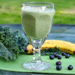 This green smoothie recipe is an easy way to get all fruits and vegetables for the day in one meal. No added sugar and can be lactose free!