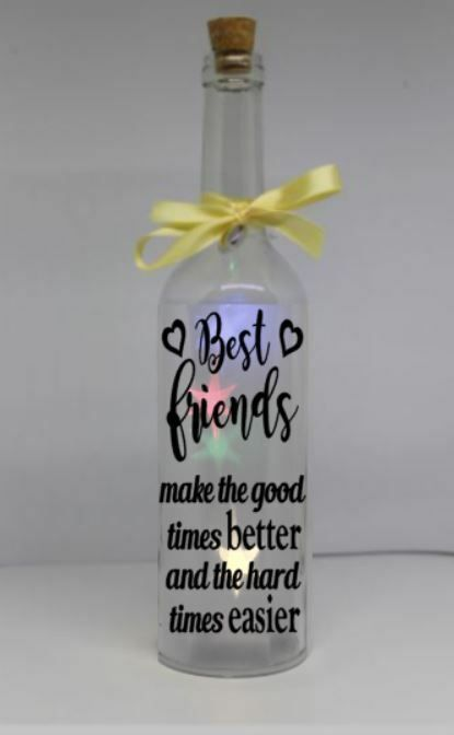Best friends make the good times better and the hard times Wine bottle sticker