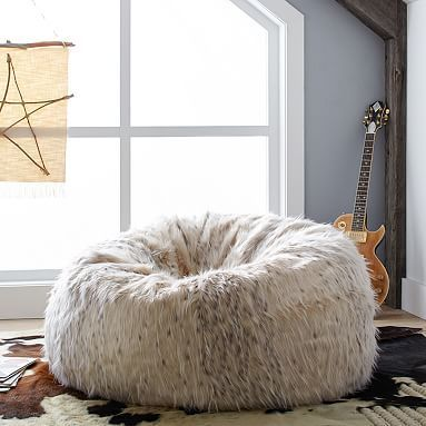 Our Superior Quality Faux Fur Is Luxuriously Cozy And The Comfy Beanbag Chair Both Relaxing So Much Fun Made To Look Feel Like