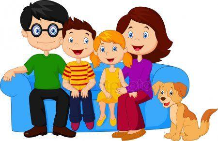 Dibujos Animados Familia Feliz Sentado En El Sofa Vector De Stock Imagenes De Familias Animadas Imagenes De Familia Familia Ilustracion