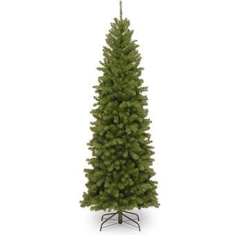 7 5 Green Artificial Christmas Tree Reviews Joss Main In 2020 Slim Christmas Tree Slim Artificial Christmas Trees Artificial Christmas Tree