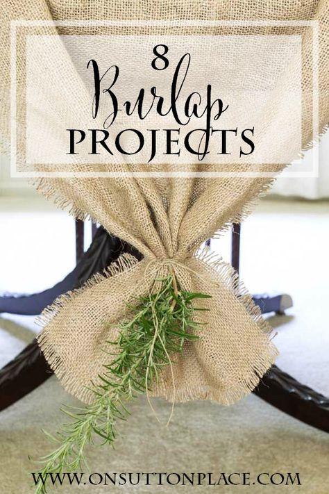 Burlap Projects | Easy DIY Tutorials | onsuttonplace.com