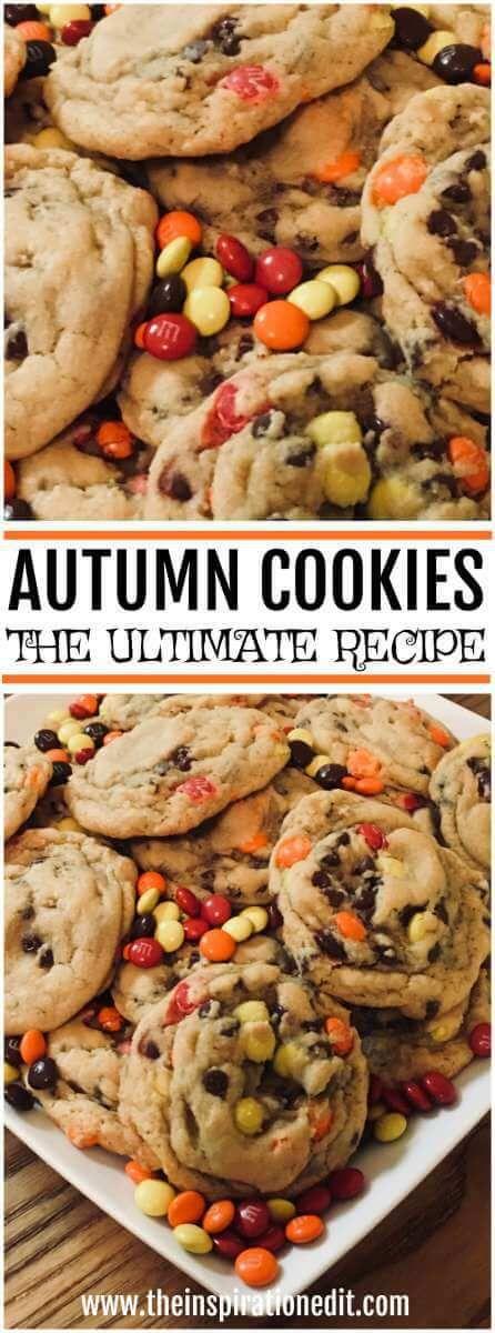 Autumn Cookies   Fall Cookies Recipe and tutorial.    #Cookies #Fall #Baking #Autumnactivities #fall #tastycookies #cookierecipes #smarties #recipes #bakewithkids #bakingideas