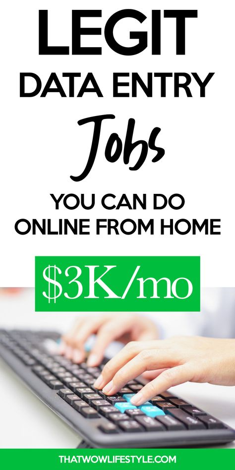Legit Data Entry Jobs You Can Do Online From Home