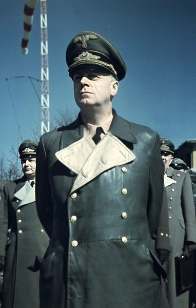 Joaquim von Ribbentrop  The Foreign Minister of the Third Reich he was found guilty at the Nuremberg Trials and was the first to be hanged upon its conclusion.