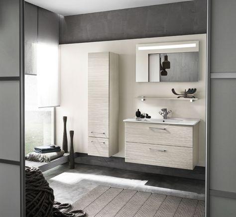Meuble de salle de bains avec plan vasque Onde | Delpha ...