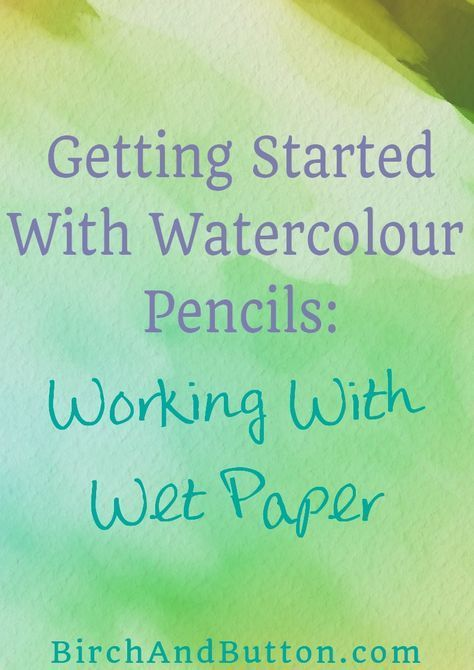 How To Paint A Tree With Watercolor Pencil Watercolor Pencil Art