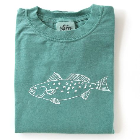 Speckled Trout Long Sleeve Tee Comfort Colors Simple Shirts