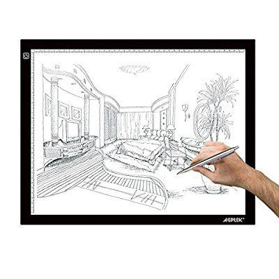 Tables /à Dessin Ultre-Mince Light Box LED Copie Board avec Luminosit/é R/églable Pr/écise C/âble USB AGM Tablette Lumineuse A3 Dessin Tablette pour Croquis Esquisse Architecture Bouton Tactile