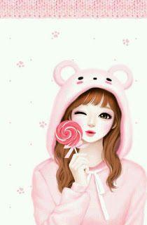 صور بنات كرتون انمى Cute Girl Wallpaper Cute Cartoon Girl Cute Art
