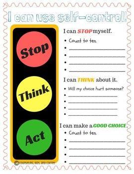 Self Control Lesson Plan