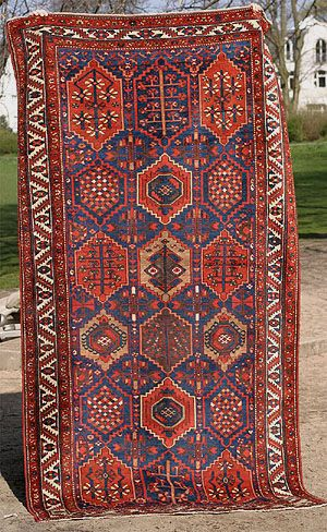 Kurdish Village Carpet With Hexagonal Grid 10ft X 5ft 2in 305 X 158 Cm Goruntuler Ile Halilar