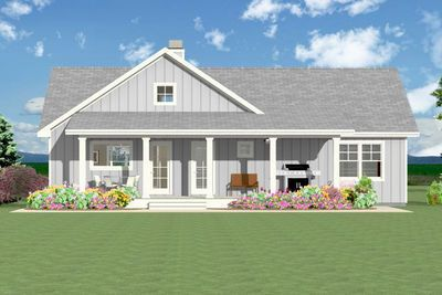 Plan 28920jj Open 3 Bedroom With Farmhouse Charm Simple Farmhouse Plans Open Floor Plan Farmhouse House Plans Farmhouse