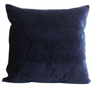 blue and beige velvet pillow cover
