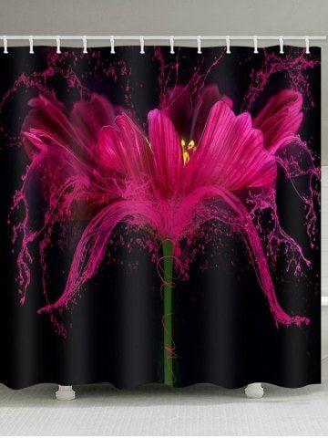 Outstanding 3D Flower Printed Waterproof Bathroom Curtain Christmas Download Free Architecture Designs Xerocsunscenecom