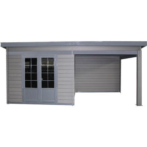 Abri De Jardin Pool House Composite 6x3 Toit Plat Contemporain