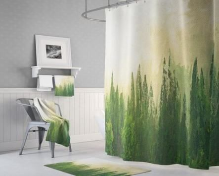 28 Ideas Bath Room Beige Green Shower Curtains For 2019 Bath Green Shower Curtains Dark Green Bathrooms Green Bathroom Decor