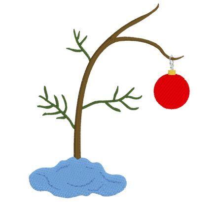Little Christmas Tree Christmas Tree Embroidery Design Charlie Brown Christmas Tree Little Christmas Trees