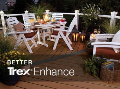 Building A Deck With Trex S Enhance Product Line Our Deck Cost Estimator Can Help You Price Out The Materials You Building A Deck Deck Cost Diy Deck