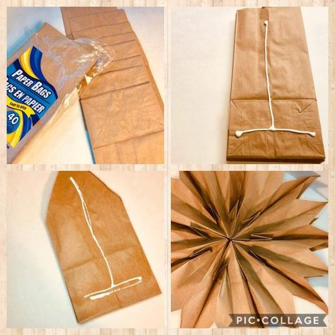 Diy Paper Bag, How To Make A Paper Bag, Paper Bag Crafts, Paper Bag Album, Christmas Bags, Christmas Paper, Christmas Crafts, Christmas Porch, Country Christmas