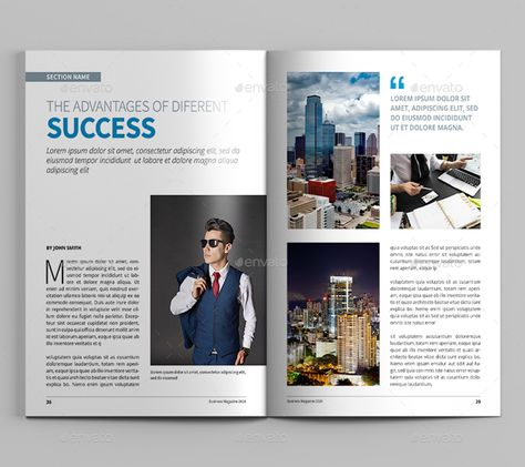 Business Magazine Ad Template