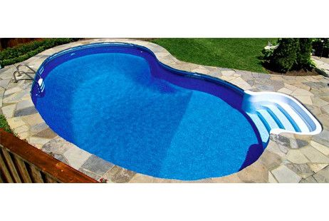 Equator 14 X 28 Kidney Shape In Ground Pool Kit With Step