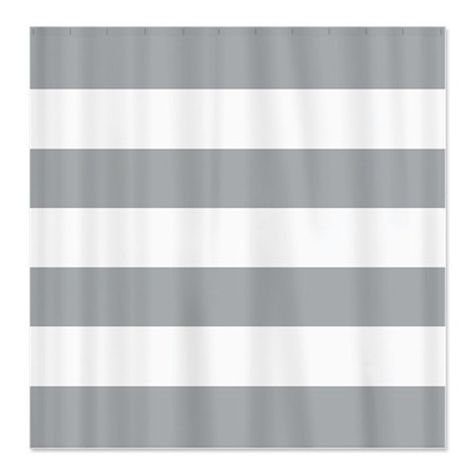 Large Striped Custom Shower Curtain Grey And White Stripes OR Choose Colors Standard Extra Long Si