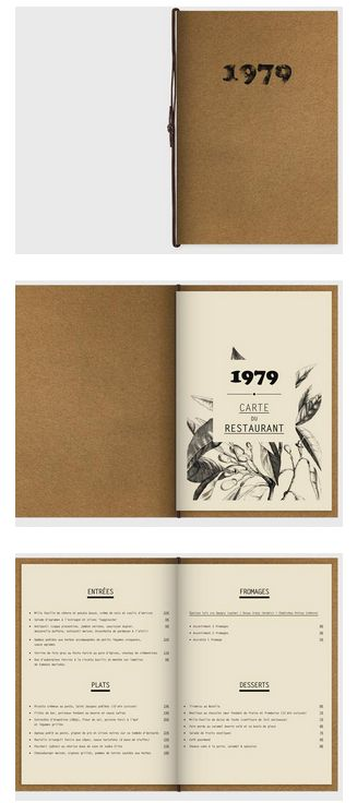 CLUB 1979 Restaurant Menu | Black Pig Collateral | Pinterest ...