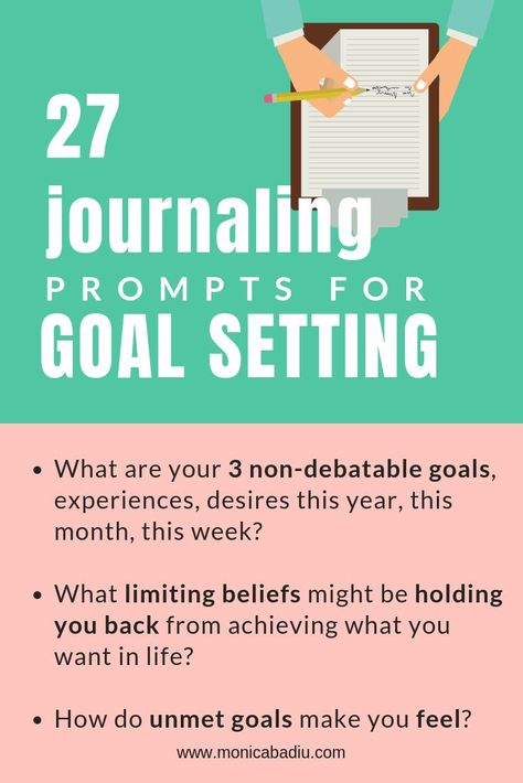 27 Journaling Prompts for Goal Setting & Motivation via Monica Badiu Visibility Coach - #goalsetting #mindsetforsuccess #growthmindset #goals #productivity #journaling #femaleentrepreneur #success #journalingprompts #mindset