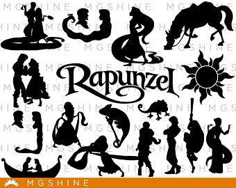 Rapunzel Svg For Cricut Silhouette Rapunzel Silhouette Rapunzel Png Clipart Rapunzel Dxf Vect Disney Silhouettes Disney Silhouette Art Disney Silhouette