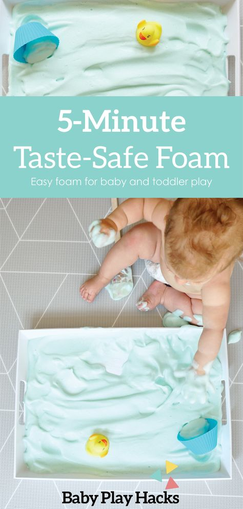 Taste-Safe Foam — Baby Play Hacks Source by pommi Infant Sensory Activities, Baby Sensory Play, Toddler Learning Activities, Baby Play, Sensory Play Recipes, Indoor Activities, Summer Activities, Family Activities, Baby Lernen