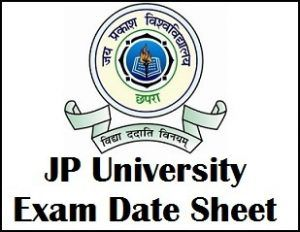 JP University Part 2 Exam Date 2019 issued at jpv bih nic in