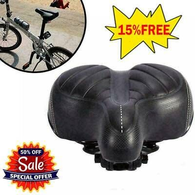 Comfort Wide Bum Bike Bicycle Saddle Seat Gel Cruiser Sport Soft Pad Cushion New