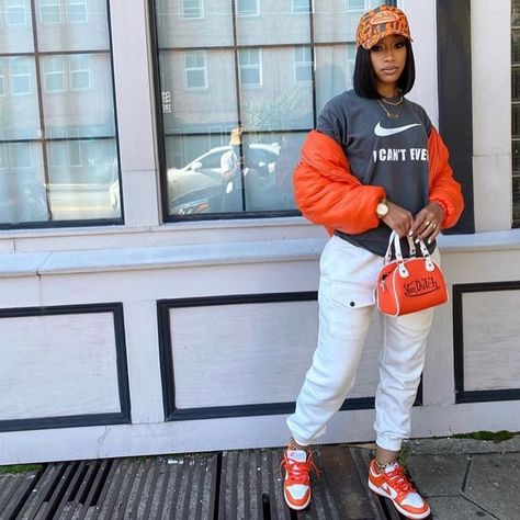Cute Swag Outfits, Tomboy Outfits, Chill Outfits, Teen Fashion Outfits, Dope Outfits, Urban Outfits, Trendy Outfits, Black Girl Fashion, Tomboy Fashion