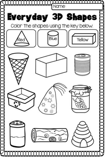 17 Best Ideas About 2d And 3d With Images Shapes Worksheet Kindergarten Shapes Worksheets Teaching Shapes 3d shapes worksheets for kindergarten