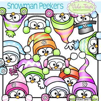 cute snowman page topper peeking snowmen faces peekers winter rh pinterest com faces clip art black and white faces clip art feelings