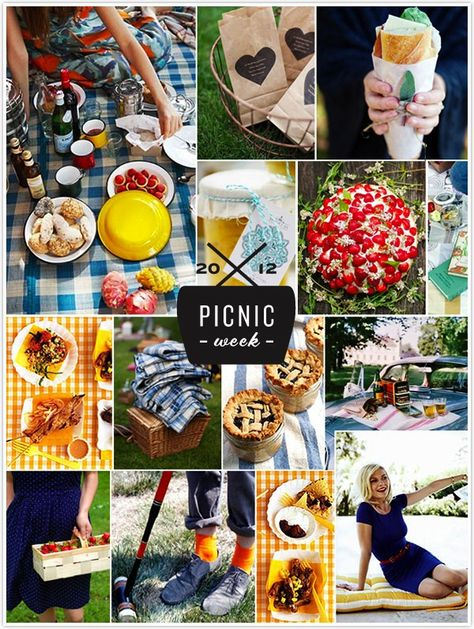 Blue, red and yellow, picnic inspiration for Picnic Week on Camille Styles