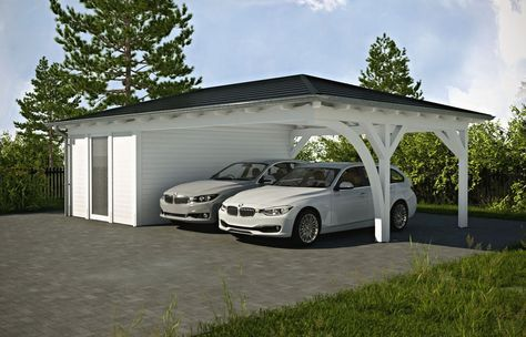 Walmdach Carport Am Haus Solarterrassen Carportwerk Gmbh Carport Designs Carport Pergola Carport