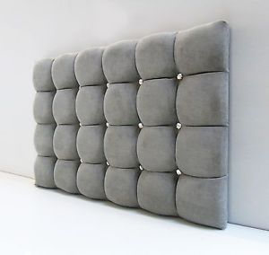 Suede Headboards Image Is Loading Super Cube Padded Headboard Bed