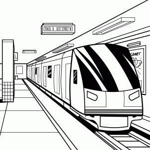 How To Draw A Subway Subway Train By Michaely In 2020 With Images Train Drawing Train Sketch Perspective Art