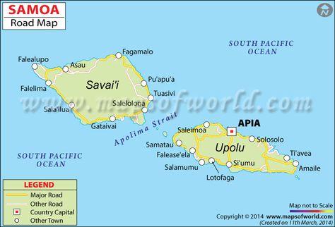 Samoa Islands Another Map Of Western Samoa Island Of Savaii - Samoa map