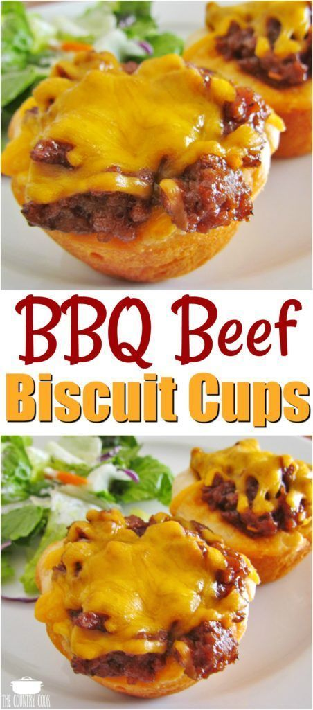 30 Minute Bbq Beef Biscuit Cups The Country Cook Recipe Bbq Beef Biscuit Cups Country Cooking