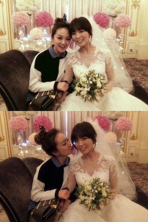 92234b1e0f5e0 Joo poses with Sunye, the beautiful bride! ~ Latest K-pop News - K-pop News  | Daily K Pop News