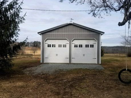 This Is A 24x32x12 Post Frame Garage Built In Doswell Va By Superior Buildings Residential Garage Pole Buildings Residential
