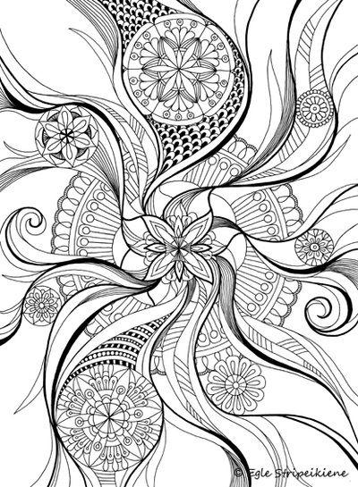 Floral mandala coloring page Pinteres